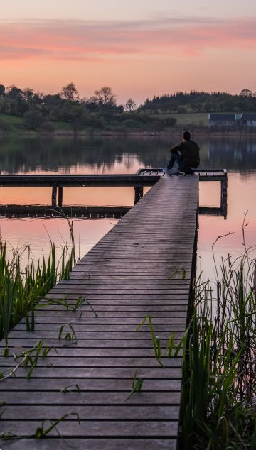 Taken in Bailieborough, Co Cavan.  'Enjoying the April Sunsets, in my beautiful hometown of Bailieborough. I love nothing better than to sit and watch the sunset. For this shot I leave my camera on a tripod and a timer, and quickly get in place,'  By Oliver G.