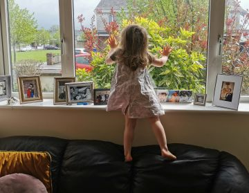 Taken in Kildare.  'Esme looking out every day to see the passers by.'  By Ellie M.