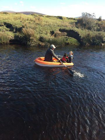 Taken on the Owenduff River, Ballycroy, Co. Mayo.  'Sailing the lockdown blues away'.  By Karen McM.