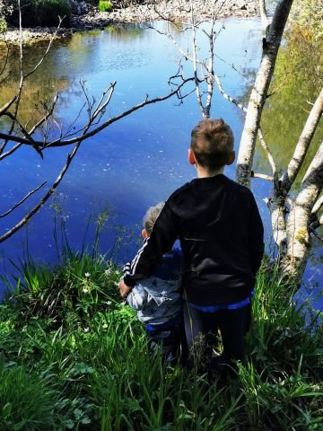 Taken in Donegal.  'Kids enjoying their walk and reflecting'.  By Tricia B.