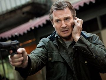 Not to be outdone, former CIA operative Bryan Mills (played by Liam Neeson) hunts down his teenage daughter and her kidnapper in Taken. @Europa Corp. All Rights Reserved.