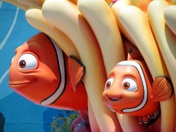 Though not the strongest or bravest clownfish, Finding Nemo's Marlin (voiced by Albert Brooks) literally swam to the ends of the earth to find his son. @Waly Disney Pictures. All Rights Reserved.
