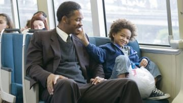 Will Smith stars as Chris Gardner, a homeless salesman and devoted father of one in The Pursuit of Happyness. @Columbia Pictures. All Rights Reserved.