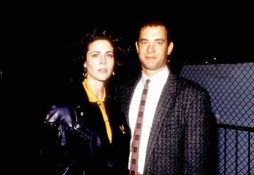 1980: Rita Wilson and Tom Hanks at the Various in Los Angeles, California (Photo by Lester Cohen/WireImage)