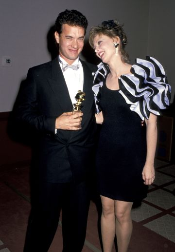 1988: Tom Hanks and Shelley Long during The 45th Annual Golden Globe Awards at Beverly Hilton Hotel in Beverly Hills, California, United States. (Photo by Jim Smeal/Ron Galella Collection via Getty Images)