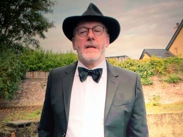 Liam Cunningham joins in the ceremony remotely as the winners of the 2020 IFTA Awards were revealed at a virtual ceremony on Sunday night on Virgin Media One hosted by Deirdre O'Kane  Credit Picture : PIPPictures