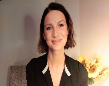 Caitiona Balfe  joins in the ceremony remotely as the winners of the 2020 IFTA Awards were revealed at a virtual ceremony on Sunday night on Virgin Media One hosted by Deirdre O'Kane  Credit Picture : PIPPictures