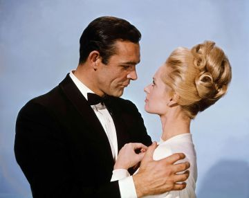 Scottish actor Sean Connery and American actress Tippi Hedren on the set of Marnie, based on the novel by Winston Graham and directed and produced by British Alfred Hitchcock. (Photo by Universal Pictures/Sunset Boulevard/Corbis via Getty Images)