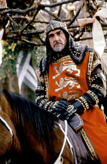 Scottish actor Sean Connery on the set of Robin Hood: Prince of Thieves, directed by Kevin Reynolds. (Photo by Warner Bros. Pictures/Morgan C/Sunset Boulevard/Corbis via Getty Images)