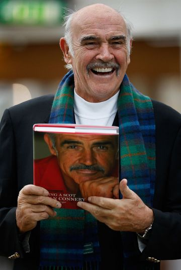Sir Sean Connery unveils his new book entitled 'Being A Scot' at the Edinburgh book festival August 25, 2008 in Edinburgh, Scotland. The launch of the actors memoirs book coincides with his 78th birthday. (Photo by Jeff J Mitchell/Getty Images)