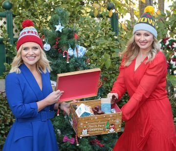 Ireland Am presenters Karen Koster and Anna Daly pictured as they announced that  Virgin Media'sIreland AM is calling on local Irish businesses to feature in its#BackingLocalcampaign which gives businessesthe opportunity to promote their service or product to the nationin the run up to the festive season   Image credit: Virgin Media
