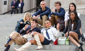 The cast of the 'Gossip Girl' reboot were spotted filming in NYC