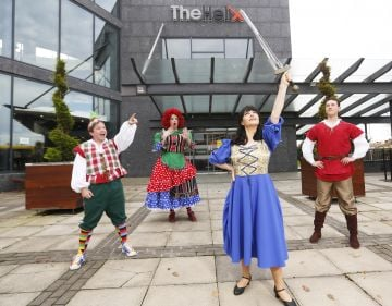 Pictured are the cast of The Helix Online Panto, 'The Sword in the Stone' which includes RTE's Fair City Actress, Amilia Stewart-Keating. Produced once again by TheatreworX Productions, The Helix Panto Online will be a new way for families all over the country to enjoy the magic of Christmas panto during these Covid times and all from the comfort of their homes.   Photo: Leon Farrell/Photocall Ireland.