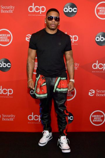Nelly attends the 2020 American Music Awards at Microsoft Theater on November 22, 2020 in Los Angeles, California. (Photo by Emma McIntyre /AMA2020/Getty Images for dcp)