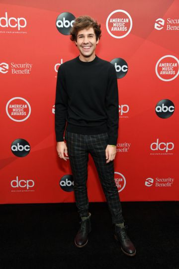David Dobrik attends the 2020 American Music Awards at Microsoft Theater on November 22, 2020 in Los Angeles, California. (Photo by Kevin Mazur/AMA2020/Getty Images for dcp)