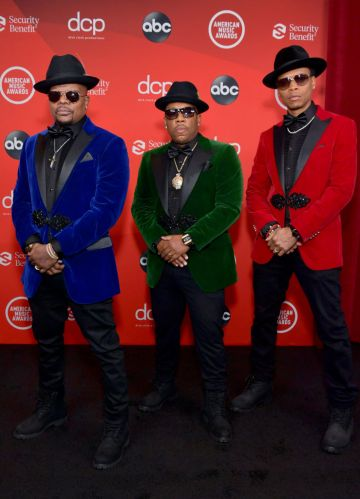 Ricky Bell, Michael Bivins, and Ronnie DeVoe of Bell Biv DeVoe attend the 2020 American Music Awards at Microsoft Theater on November 22, 2020 in Los Angeles, California. (Photo by Emma McIntyre /AMA2020/Getty Images for dcp)