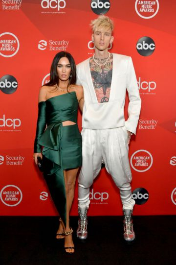 Megan Fox and Machine Gun Kelly attend the 2020 American Music Awards at Microsoft Theater on November 22, 2020 in Los Angeles, California. (Photo by Emma McIntyre /AMA2020/Getty Images for dcp)