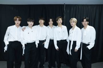 Jin, Suga, V, Jungkook, RM, Jimin, and J-Hope of BTS attend the 2020 American Music Awards on November 22, 2020 in South Korea. (Photo by Big Hit Entertainment/AMA2020/Getty Images via Getty Images)