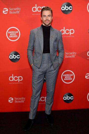Derek Hough attends the 2020 American Music Awards at Microsoft Theater on November 22, 2020 in Los Angeles, California. (Photo by Emma McIntyre /AMA2020/Getty Images for dcp)