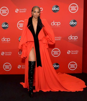 Ciara attends the 2020 American Music Awards at Microsoft Theater on November 22, 2020 in Los Angeles, California. (Photo by Emma McIntyre /AMA2020/Getty Images for dcp)