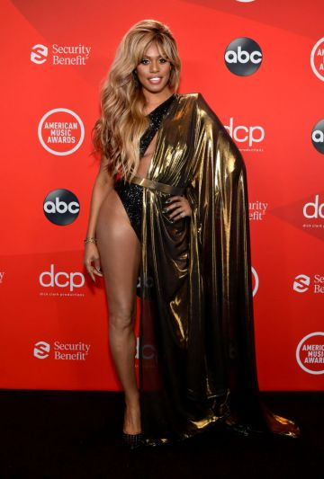 Laverne Cox attends the 2020 American Music Awards at Microsoft Theater on November 22, 2020 in Los Angeles, California. (Photo by Emma McIntyre /AMA2020/Getty Images for dcp)