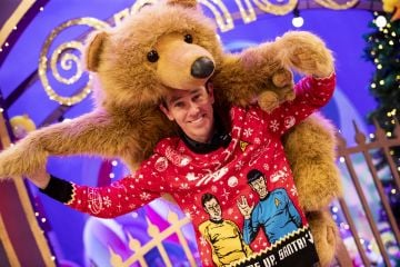 Ryan Tubridy pictured on the Roald Dahl themed set of this years The Late Late Toy Show.   Picture: Andres Poveda