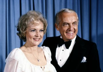 Betty White and Ted Knight (Photo by Ron Galella/Ron Galella Collection via Getty Images)