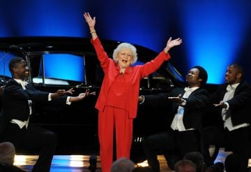 Actress Betty White performs onstage at the 39th AFI Life Achievement Award honoring Morgan Freeman held at Sony Pictures Studios on June 9, 2011 in Culver City, California. The AFI Life Achievement Award tribute to Morgan Freeman will premiere on TV Land on Saturday, June 19 at 9PM ET/PST.  (Photo by Kevin Winter/Getty Images for AFI)