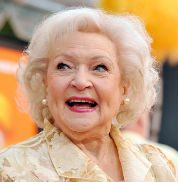"""Actress Betty White arrives at the premiere of Universal Pictures and Illumination Entertainment's 3D-CG """"Dr. Seuss' The Lorax"""" at Citywalk on February 19, 2012 in Universal City, California.  (Photo by Kevin Winter/Getty Images)"""