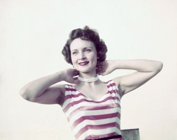 Betty White pictured in the early days of her acting career.  Image credit: Getty Images