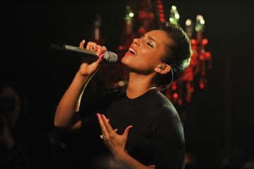 2012:  Alicia Keys performs onstage at iHeartRadio Live Presents Alicia Keys at iHeartRadio Theater on November 27, 2012 in New York City.  (Photo by Theo Wargo/Getty Images for iHeartRadio)