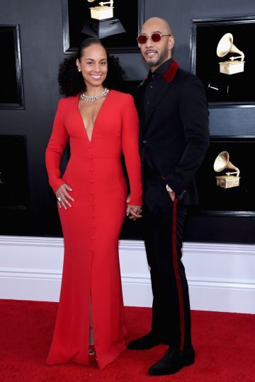 2019:  Alicia Keys and Swizz Beatz attend the 61st Annual GRAMMY Awards at Staples Center on February 10, 2019 in Los Angeles, California.  (Photo by Amy Sussman/FilmMagic)