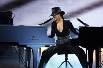 2019:  Alicia Keys performs onstage during the 61st Annual GRAMMY Awards at Staples Center on February 10, 2019 in Los Angeles, California.  (Photo by Kevin Winter/Getty Images for The Recording Academy)