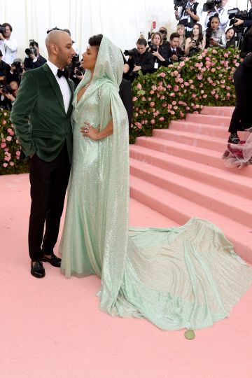 2019: Swizz Beatz and Alicia Keys attend The 2019 Met Gala Celebrating Camp: Notes on Fashion at Metropolitan Museum of Art on May 06, 2019 in New York City. (Photo by Jamie McCarthy/Getty Images)