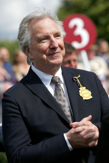 Alan Rickman took on the role of Potion's Master Severus Snape. Rickman was an established actor prior to joining the Harry Potter cast. He gained further recognition through Love Actually (2003), Alice in Wonderland (2010) and Eye in the Sky (2015). Rickman sadly died of pancreatic cancer in January 2016 at the age of 69.  (Photo by Tristan Fewings/Getty Images for Qatar Goodwood Festival)