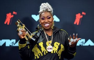 Hip hop queen Missy Elliot is well known as a solo artists with hits like 'Get Your Freak On  and 'Work It'.  She got into the music business in the early-mid 1990's as part of R&B girl group 'Sista'.  (Photo credit should read JOHANNES EISELE/AFP via Getty Images)