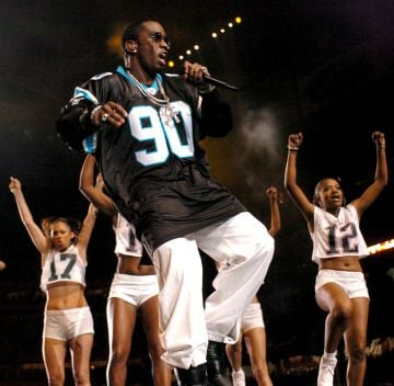 """Sean """"P. Diddy"""" Combs during The AOL TopSpeed Super Bowl XXXVIII Halftime Show Produced by MTV at Reliant Stadium in Houston, Texas, United States. (Photo by KMazur/WireImage)"""