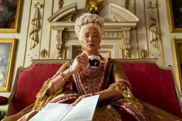Golda Rosheuvel is a British-Guyanese actor and singer, most famous for her work on stage. She took on the role of Queen Charlotte in the hit drama.  Image credit: Netflix (2020)
