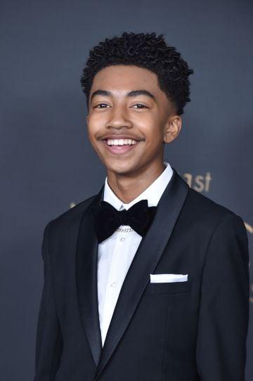 2020: Miles Brown stars as third oldest child Jack Johnson.   (Photo by Aaron J. Thornton/FilmMagic)