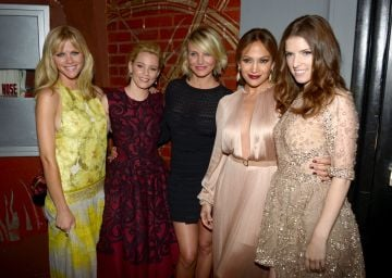 "2012:  (L-R) Actresses Brooklyn Decker, Elizabeth Banks, Cameron Diaz, Jennifer Lopez and Anna Kendrick arrive at the premiere of Lionsgate's ""What To Expect When You're Expecting"" held at Grauman's Chinese Theatre on May 14, 2012 in Hollywood, California.  (Photo by Kevin Winter/Getty Images)"