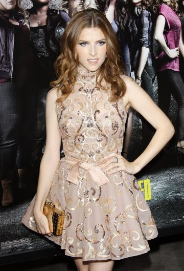 "2012:  Anna Kendrick arrives at the Los Angeles premiere of ""Pitch Perfect"" held at ArcLight Cinemas on September 24, 2012 in Hollywood, California.  (Photo by Michael Tran/FilmMagic)"