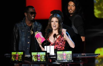 2010:  Anna Kendrick attends the 2010 MTV Movie Awards at Gibson Amphitheatre on June 6, 2010 in Universal City, California.  (Photo by Kevin Mazur/WireImage)