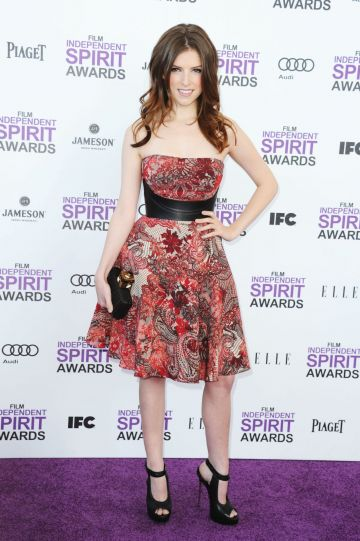 2012:  Actress Anna Kendrick arrives at the 2012 Film Independent Spirit Awards on February 25, 2012 in Santa Monica, California.  (Photo by Alberto E. Rodriguez/Getty Images)