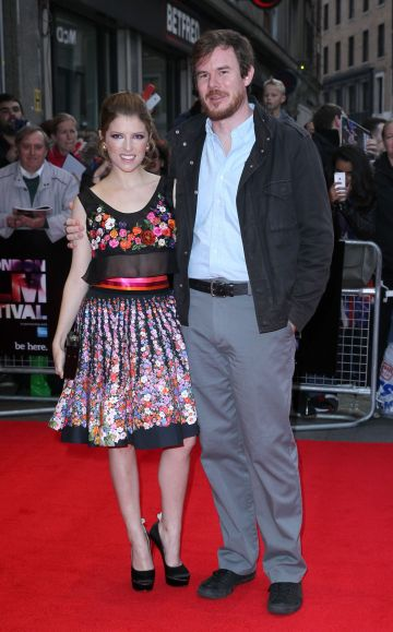 "2013: Anna Kendrick and Joe Swanberg attend a screening of ""Drinking Buddies"" during the 57th BFI London Film Festival at Odeon West End on October 18, 2013 in London, England. (Photo by Fred Duval/FilmMagic)"