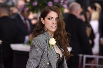 2018:  Anna Kendrick attends the 60th Annual GRAMMY Awards - Arrivals at Madison Square Garden on January 28, 2018 in New York City.  (Photo by Presley Ann/Patrick McMullan via Getty Images)