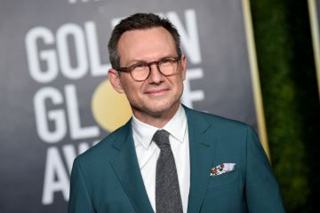 Christian Slater attends the 78th Annual Golden Globe® Awards at The Rainbow Room on February 28, 2021 in New York City.  (Photo by Dimitrios Kambouris/Getty Images for Hollywood Foreign Press Association)