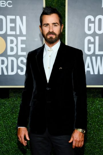 Justin Theroux attends the 78th Annual Golden Globe® Awards at The Rainbow Room on February 28, 2021 in New York City.  (Photo by Dimitrios Kambouris/Getty Images for Hollywood Foreign Press Association)