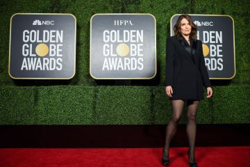 Tina Fey attends the 78th Annual Golden Globe® Awards at The Rainbow Room on February 28, 2021 in New York City.  (Photo by Dimitrios Kambouris/Getty Images for Hollywood Foreign Press Association)