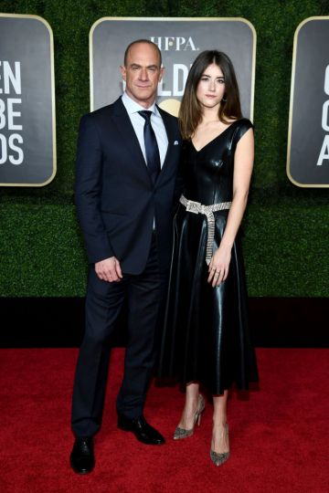 Christopher Meloni and Sophia Meloni attend the 78th Annual Golden Globe® Awards at The Rainbow Room on February 28, 2021 in New York City.  (Photo by Dimitrios Kambouris/Getty Images for Hollywood Foreign Press Association)