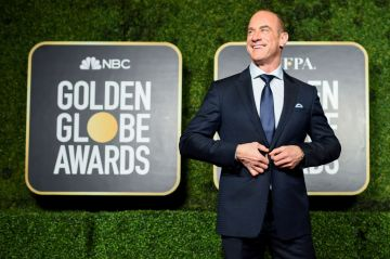 Christopher Meloni attends the 78th Annual Golden Globe® Awards at The Rainbow Room on February 28, 2021 in New York City.  (Photo by Dimitrios Kambouris/Getty Images for Hollywood Foreign Press Association)